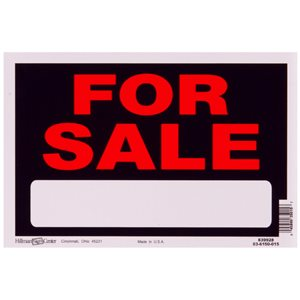 Hillman 8-in x 12-in For Sale Sign