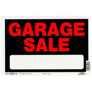 Hillman 8-in x 12-in Garage Sale Sign