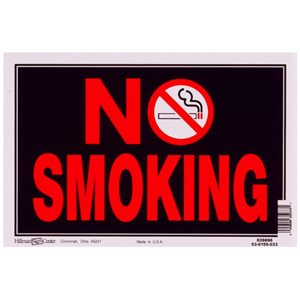 Hillman 8-in x 12-in Smoking Sign