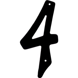 Hillman 4-in Black House Number