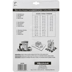 Hillman 1-in Black and Gold Mylar Number and Letter Pack