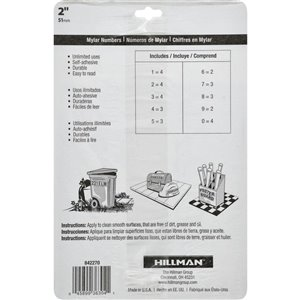 Hillman 2-in Black and Gold Mylar Number Pack
