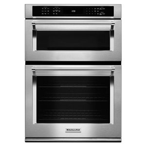 KitchenAid 30-Inch Self-Cleaning Microwave Convection Microwave Wall Oven Combo (Stainless Steel)