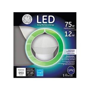 GE Led 12-Watt (75 W Equivalent) 2700 Kelvins Par38 Medium Base (E-26) Warm White Dimmable Indoor/Outdoor Led Flood Light Bulb ENERGY STAR