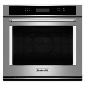 KitchenAid 30-in Convection Single Electric Wall Oven (Stainless Steel)