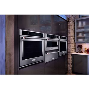 KitchenAid 30-Inch Convection Single Electric Wall Oven (Stainless Steel)