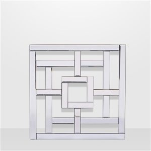 Geo, Beveled Mirror Set 18 In. x 18 In. 3 Piece Set