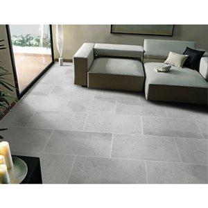 Faber Atlantis 12-in x 24-in Silver Porcelain Floor Tile