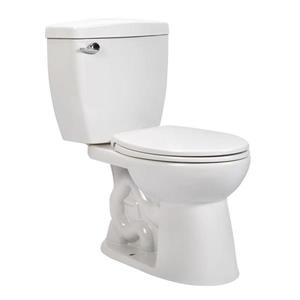 Pfister Verano White 2-Piece Single Flush Standard Height Elongated Toilet (1.28 GPF)