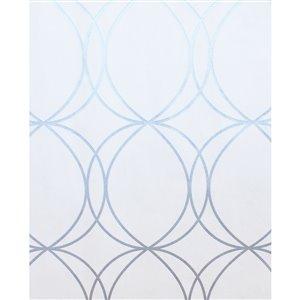 Superfresco Easy Essentials Halo Circles Wallpaper in White/Silver