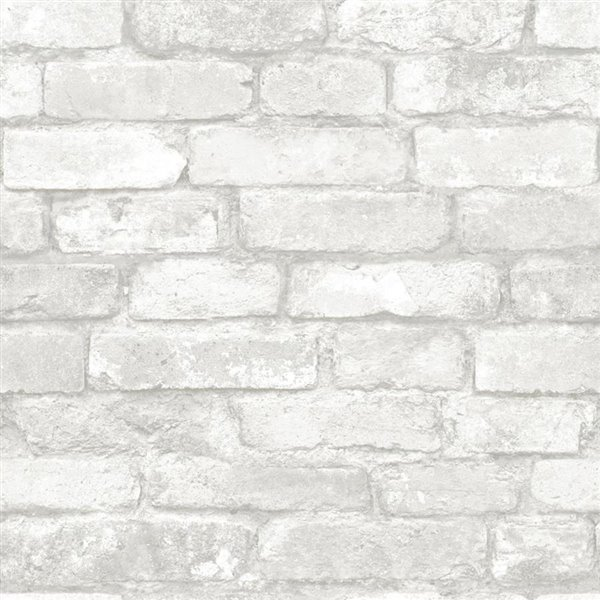 Brewster Wallcovering Grey And White Brick Peel And Stick Wallpaper