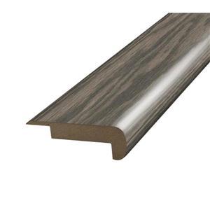SimpleSolutions 2.375-in x 78.75-in Medium Taupe Oak Stair Nose Floor Moulding