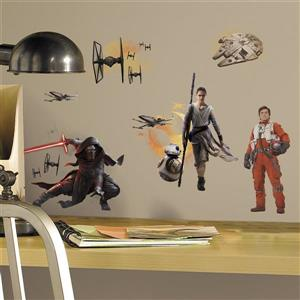 The Force Awakens Ep VII Ensemble Cast Peel & Stick Wall Decals