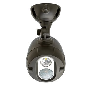 Mr Beams 180-Degree 1-Head Brown Led Motion-Activated Flood Light
