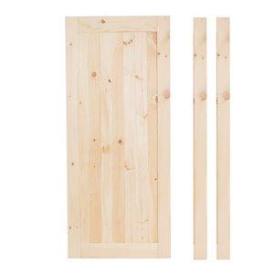 36-in x 80-in Natural Pine Interior Slab Door