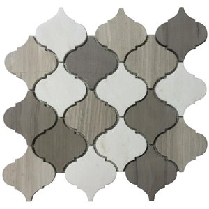 Bestview 5-Pack 12-in x 13-in Gris Garden Lantern Natural Stone Mosaic Wall Tile