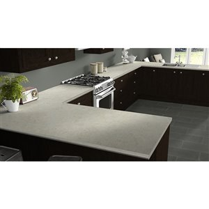 VTI Fine Laminate Countertops Wilsonart Calacatta Oro 25.5-in Depth Straight Cut Laminate Kitchen Countertop
