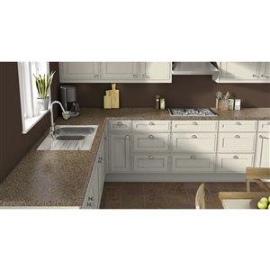 VTI Fine Laminate Countertops Wilsonart Henna Vista 25.5-in Straight Cut Laminate Kitchen Countertop