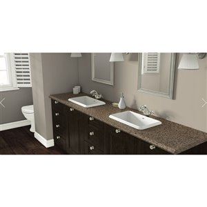VTI Fine Laminate Countertops Wilsonart Henna Vista 22.5-in Depth Straight Cut Laminate Kitchen Countertop