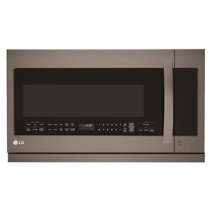 LG 30-Inch 2.2-cu ft Over-The-Range Microwave Sensor Cooking Controls (Black Stainless Steel)