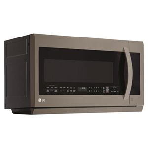 LG 2.2-cu ft Over-the-Range Microwave with Sensor Cooking (Fingerprint-Resistant Black Stainless Steel)