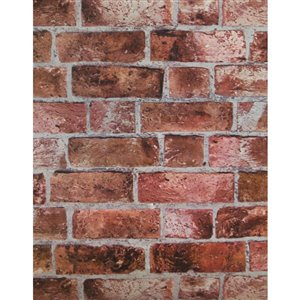 York Wallcoverings Classic Red Brick Peelable Vinyl Unpasted Classic Wallpaper