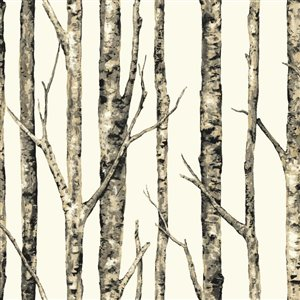 York Wallcoverings Classic Birch Trees Peelable Paper Prepasted Classic Wallpaper