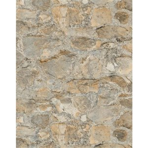 York Wallcoverings Outdoors In 57.75-sq ft Field Stone Tan Wallpaper