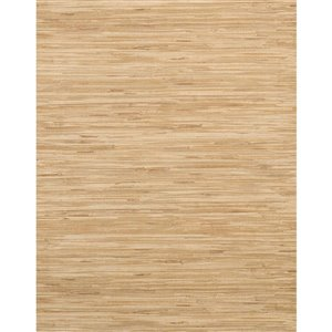 York Wallcoverings Grasscloth Strippable Non-Woven Paper Unpasted Classic Wallpaper
