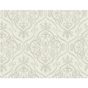 York Wallcoverings Damask Strippable Non-Woven Paper Unpasted Classic Wallpaper