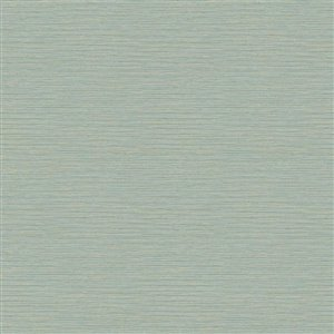 York Wallcoverings Aqua Grasscloth Strippable Non-Woven Paper Unpasted Classic Wallpaper