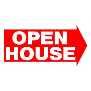 12-in x 24-in Open House Sign