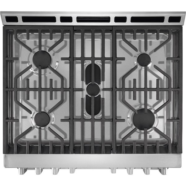 Frigidaire 30-in 5 1 cu ft Gas Range with Self-cleaning Convection Oven  (Stainless Steel)
