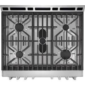 Frigidaire 30-in 5.1 cu ft Gas Range with Self-cleaning Convection Oven  (Stainless Steel)