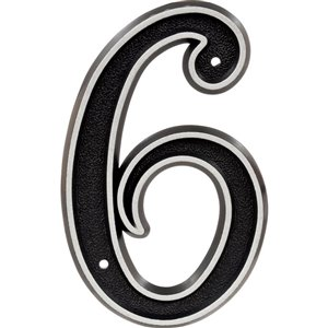Hillman Sign Center 6-in Reflective House Number