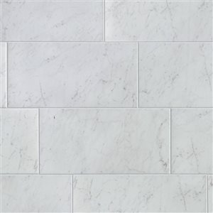 Style Selections 12-in x 24-in Futuro White Porcelain Thinset Mortar Floor and Wall Tile