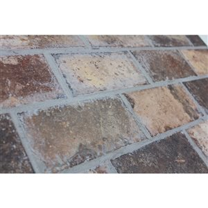 Style Selections 4-in x 8-in Broadmeadow Brick Porcelain Floor & Wall Tile