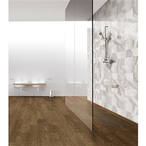 Style Selections Sovereign Stone 1 Pearl Porcelain Marble Floor and Wall Tile (Common: 6-in x 12-in; Actual: 11.85-in x 5.93-in)