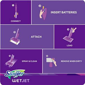 Swiffer WetJet Hardwood Floor Spray Mop Starter Kit