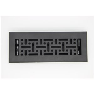 Accord Select 3 In X 10 In Black Cast Iron Wicker Floor