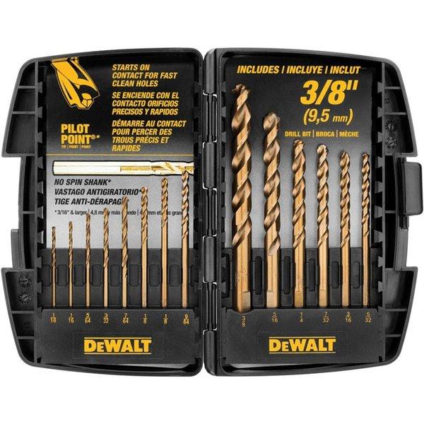 Dewalt DWA1240 Cobalt Pilot Point Drill Bit Set 14-Piece