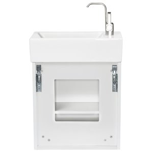 Foremost Mackenzie 19-in Single Sink White Bathroom Vanity With Vitreous China Top