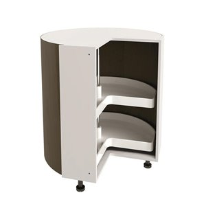 Nimble by Diamond 36-in W x 30-in H White Corner Cabinet Base