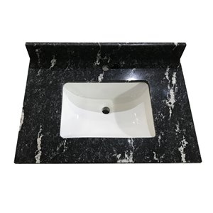 Bestview 31-in Thunder Black Granite Vanity Top