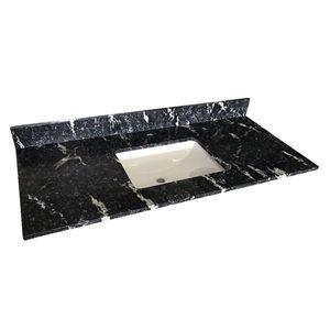 Bestview 49-in Thunder Black Granite Vanity Top