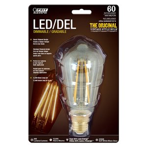 Feit Electric 4.2-Watt/466 Lumens Medium Base (E-26) Dimmable Vintage Filament LED Light Bulb (1-Pack)