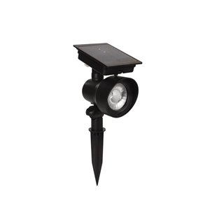 Portfolio 24X Brighter (28.8 Lumens) 0-Watt (0 W Equivalent) Black Solar Led Landscape Flood Light