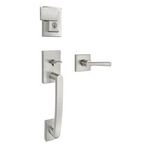 Weiser Brentridge/Vandagriff SmartKey Keyed Entry Handleset (Satin Nickel)