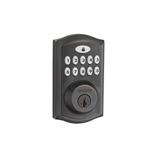 Weiser Smartcode Smartkey Electronic Deadbolt With Lighted