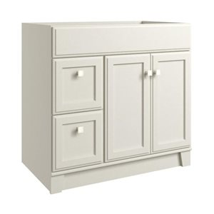 Diamond FreshFit Conley 36-in x 21-in Dove Gray Bathroom Vanity